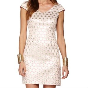 NWT lilly pulitzer dress gold & pink shift size 0